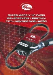 gates micro-v ® xf paski wielorowkowe i zestawy, czyli wi ksze ...