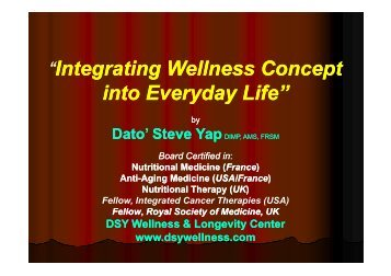"""Integrating Wellness Concept teg at g e ess Co cept into ... - IBD"