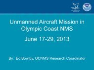 Unmanned Aircraft Systems Monitoring in OCNMS - Olympic Coast ...