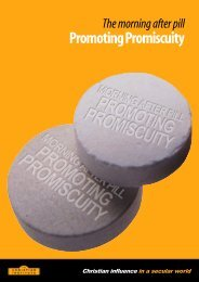 Promoting Promiscuity - The Christian Institute