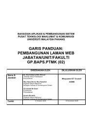 garis panduan: pembangunan laman web jabatan / unit / fakulti gp ...