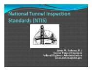 Tunnel - AASHTO - Subcommittee on Bridges and Structures
