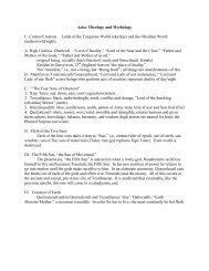 Aztec Theology and Mythology I. Creator/Creation Lords of the ...