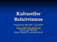 Relativismus (bis einschl. 15.11.2007) - Daniel von Wachter