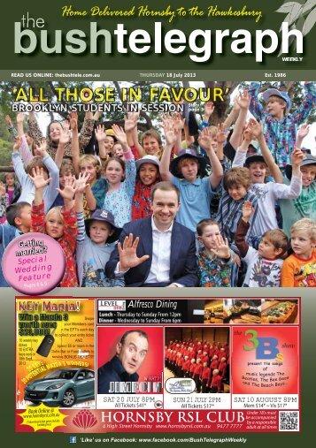 18th July 2013 - The Bush Telegraph Weekly