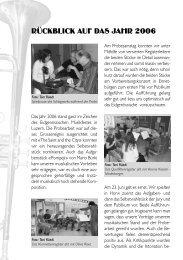 Rückblick des Dirigenten auf 2006 - Musikverein Buochs
