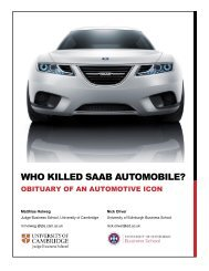 killed Saab Automobile? - Business School - University of Edinburgh