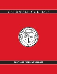 09724-12 Annual Report_07-08 - Caldwell College
