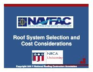 Roof System Selection and Roof System Selection and Cost ...