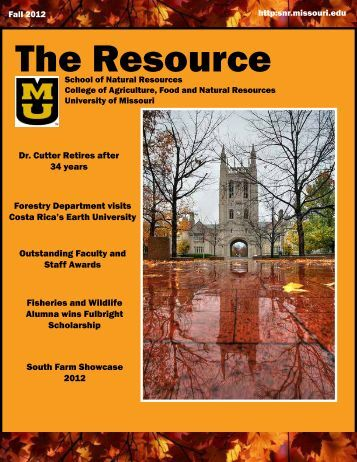 The Resource - School of Natural Resources - University of Missouri