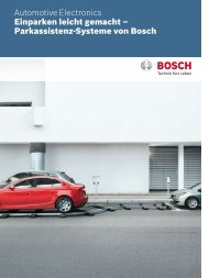 Parkassistenz-Systeme von Bosch - Bosch Automotive Technology