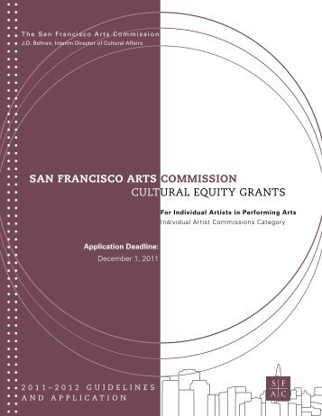 Arts And Culture Community Project Grant Final Report Form