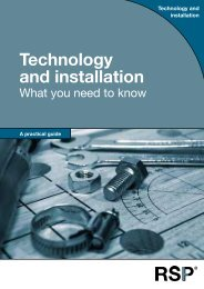 Technology and installation - RSP