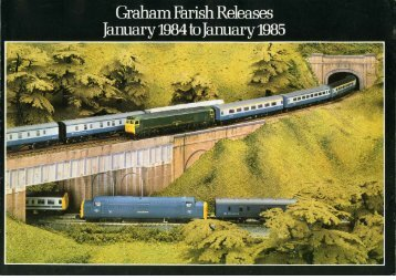 Graham Farish Catalogue Releases 1984-5