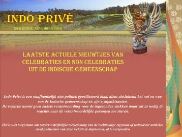 Klik hier voor 29e editie nov 2010 - Indo Privé