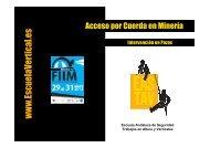 Acceso por Cuerda en Minería - VectWeb SM