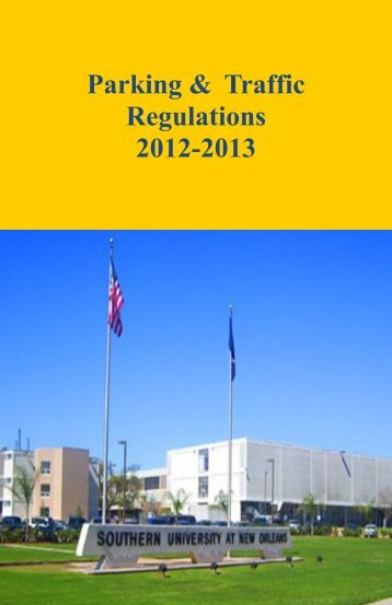 Parking & Traffic Regulations - Southern University New Orleans