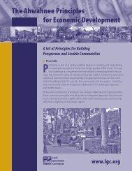 Ahwahnee Principles for Economic Development - Local ...