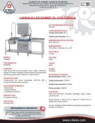 lavavajillas sammic sl-1100 cupula [13101014].cdr - Citalsa