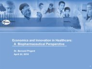 Economics and Innovation in Healthcare - Institute of Health ...