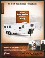 Get more for your money. - Bison Coach Trailers