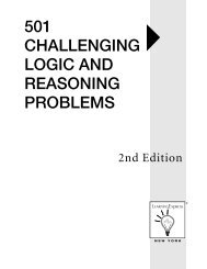 501 Challenging Logic and Reasoning Problems, 2nd Edition