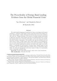 The Procyclicality of Foreign Bank Lending - European Banking ...