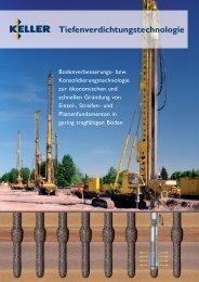 Tiefenverdichtungstechnologie - Keller Grundbau GmbH