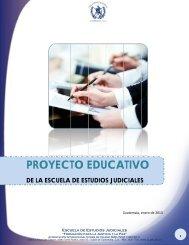 Proyecto Educativo Institucional - Organismo Judicial