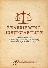 Reaffirming Justiciability - hic-sarp.org