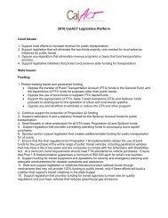 2010 Legislative Agenda (.pdf) - CalACT