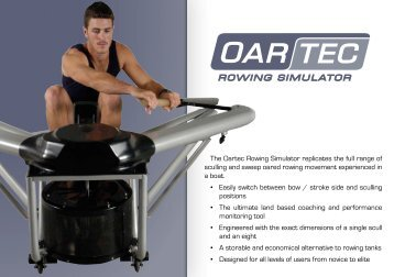 The Oartec Rowing Simulator replicates the full ... - Waterrower.biz