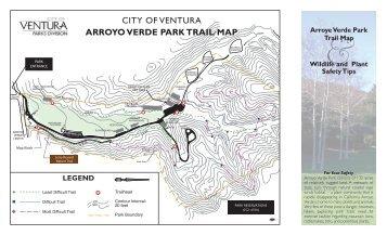 arroyo verde park trail map - City Of Ventura