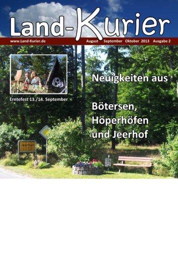 Ausgabe 2 2013 - Land-Kurier.de