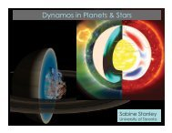Dynamos in Planets & Stars
