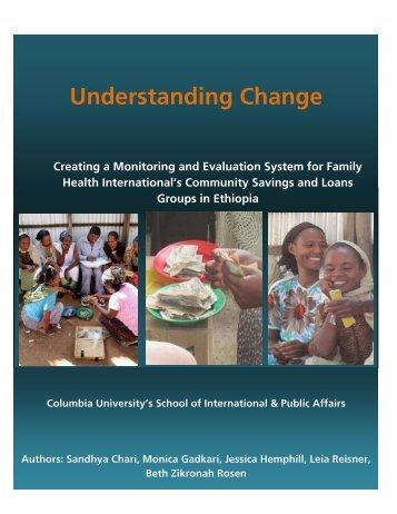 Understanding Change - School of International and Public Affairs ...
