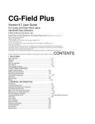 CG-Field Plus - Carlson Software