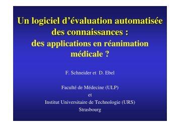 Un logiciel d'évaluation automatisée des connaissances : - SRLF