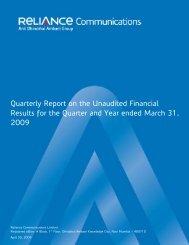 4 th Quarter - Reliance Communications