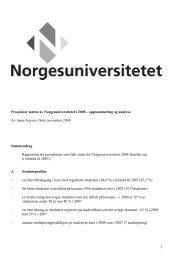 Les hele rapporten her - Norgesuniversitetet