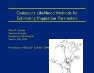 Coalescent Likelihood Methods for Estimating Population Parameters