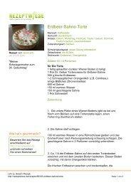 Erdbeer-Sahne-Torte - Rezeptwiese