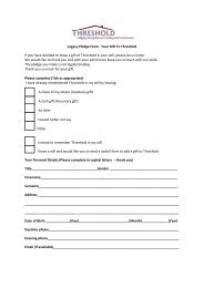Legacy Pledge Form - Your Gift To Threshold If you have decided to ...