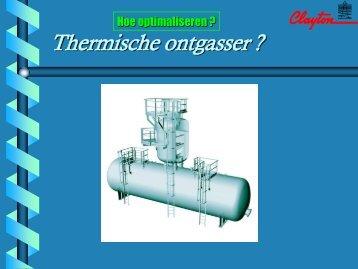 Thermische ontgasser ? - ENERGIK
