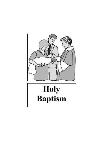 Holy Baptism - All Saints Anglican Church, Conception Bay South ...