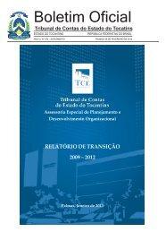 Boletim Oficial - Tribunal de Contas do Estado do Tocantins