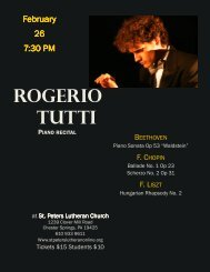 ROGERIO tUttI - St. Peters Evangelical Lutheran Church