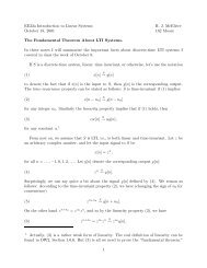 The Fundamental Theorem For LTI Systems