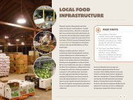 LOCAL FOOD INFRASTRUCTURE - US Department of Agriculture