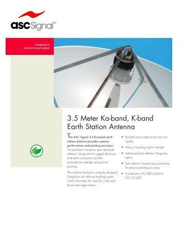 3.5 Meter Ka-band, K-band Earth Station Antenna - Vincor